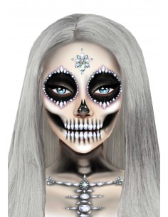 Skeleton face and chest jewels