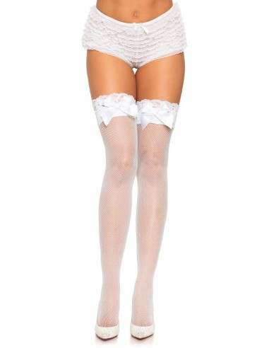 Lace Top Fishnet Thigh Highs
