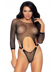Top bodysuit with thong back